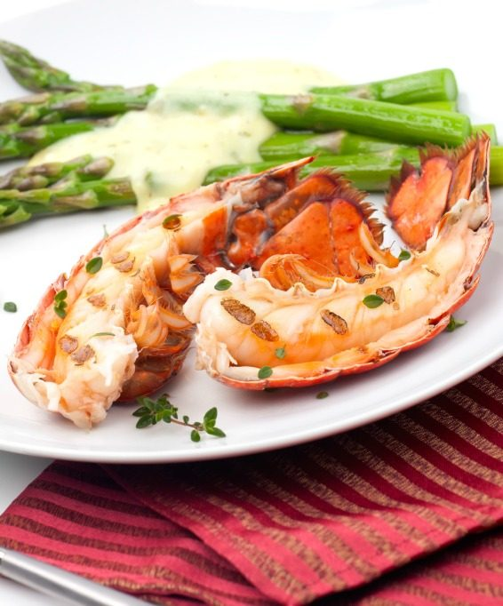 Broiled Lobster with Lemon Butter