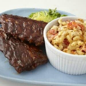 Dockside BBQ Lobster Dinner - Ribs & Lobster Mac N Cheese