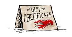 Gift Certificate Lobster Delivery