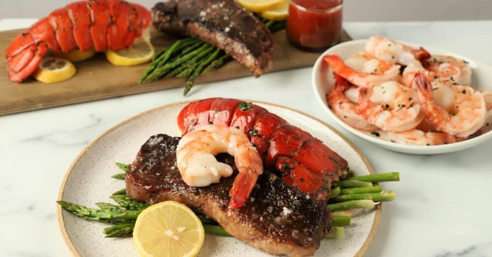 Lobster Tails Surf Turf Dinner