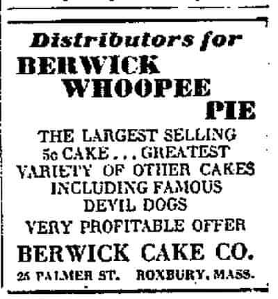History of Whoopie Pies