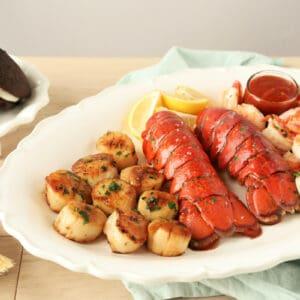 Maine fresh Seafood Dinner