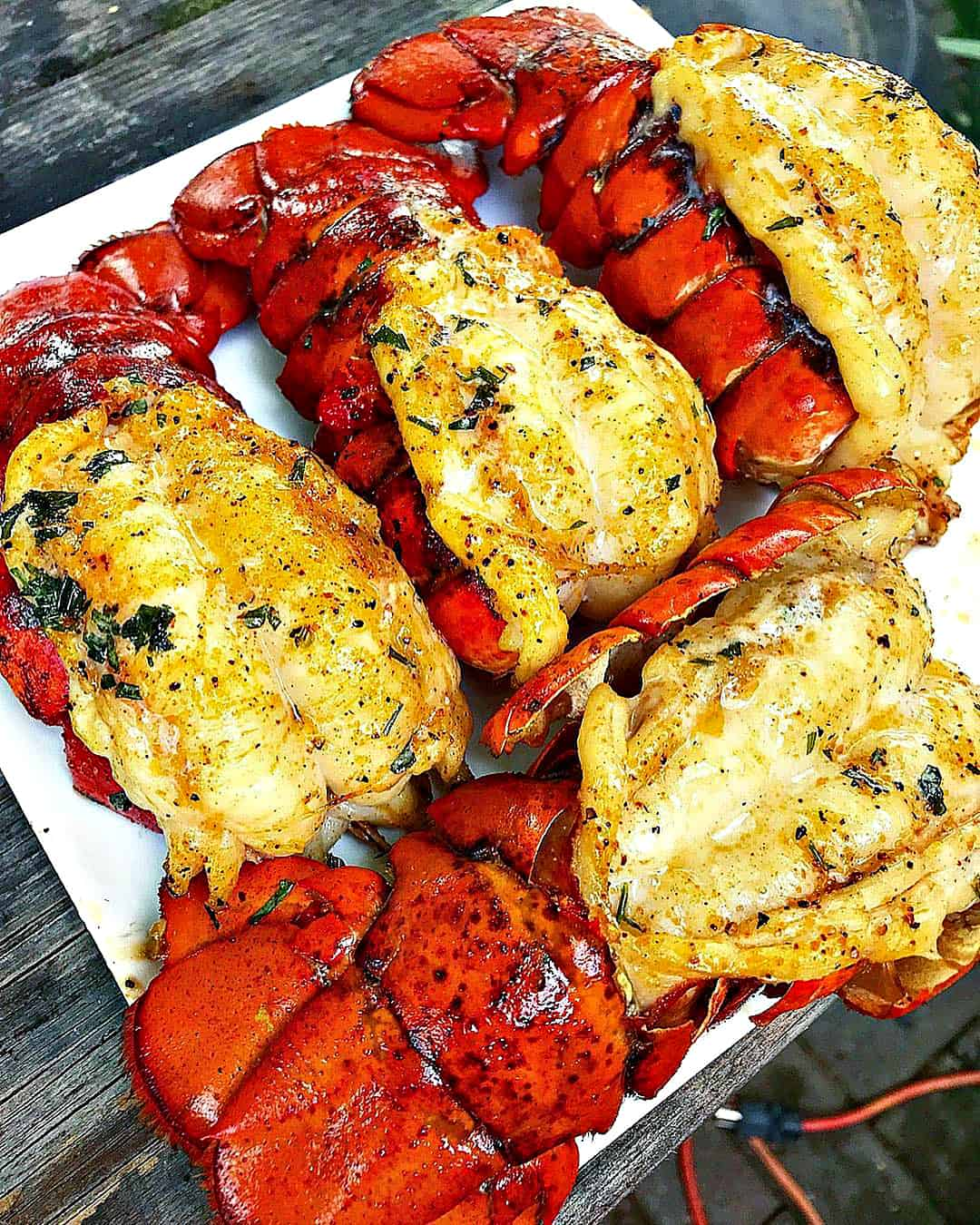 Grilled Lobster Tail for Father's Day