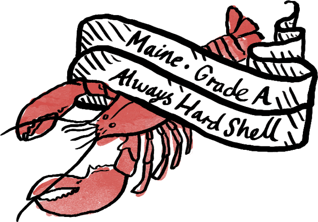 Maine Grade-A Lobster, Always hard shell.