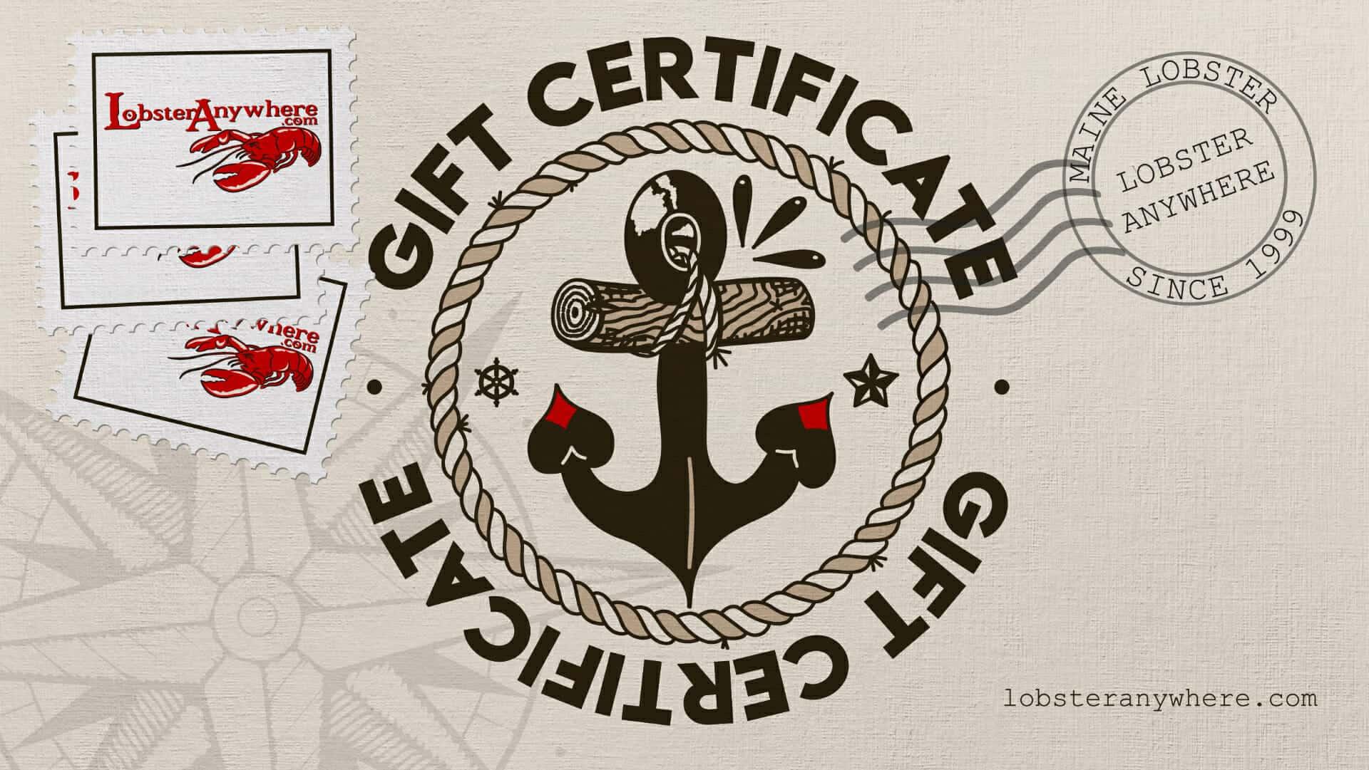 Gift Certificate Lobster
