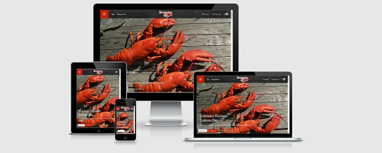 Responsive Website LobsterAnywhere
