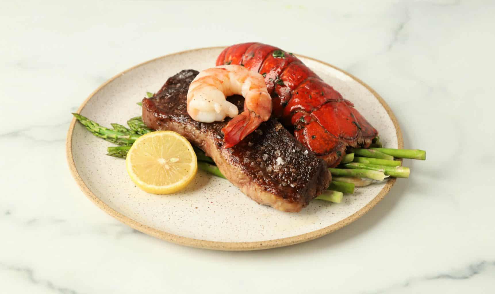 Steak Shrimp Surf and Turf